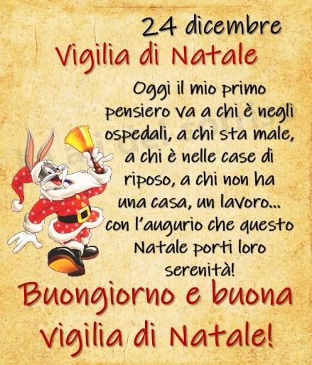 24 dicembre, Vigilia di Natale Oggi il...